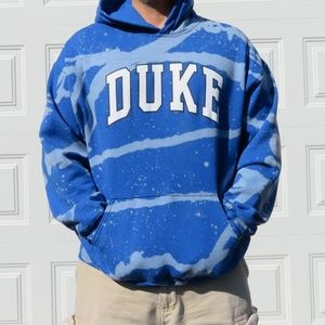 Duke Custom Bleach Hoodie sz XL